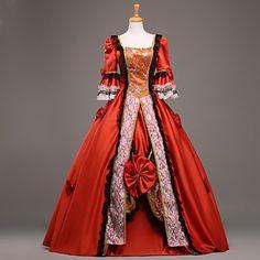 rosso maniche lunghe vestito dalla principessa del vestito da partito vittoriano vendita steampunk®top matrimonio reale abiti da ballo del 2016 a €257.73
