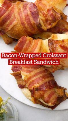 Best Breakfast Recipes, Breakfast Dishes, Brunch Recipes, Fun Baking Recipes, Cooking Recipes, Yummy Food, Good Food, Tasty, Chicken Wrapped In Bacon