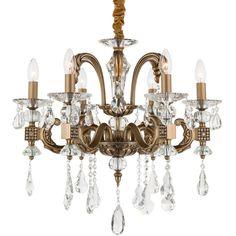 Kronleuchter Catherine Bronze Kristall #kronleuchter #bronze #kristall Hier kaufen https://www.kronleuchterhaus.de/collections/schlafzimmer-kronleuchter/products/kronleuchter-catherine-bronze-kristall