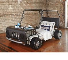 Off Road Car Bed Frame by Synargy from Harvey Norman NewZealand Car Bed Frame, Kids Car Bed, Cool Kids Rooms, Harvey Norman, Kids Running, Kids Bedroom Furniture, Boy Room, Offroad, Toddler Bed