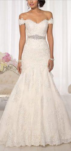 Cute Wedding Dress: Beauty Bridal Elegant Off-Shoulder Crystal Lace Wedding Dresses for Bride 2016. http://www.cutedresses.co/product/elegant-off-shoulder-crystal-lace-wedding-dress/