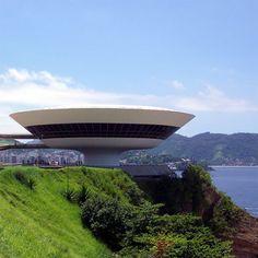 Niterói Contemporary Art Museum, Brazil (designed by Oscar Niemeyer)