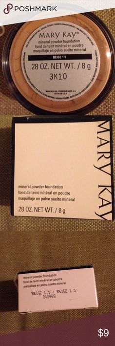 Mary Kay beige 1.5 mineral powder foundation New in box. Full size Mary may beige 1.5 mineral foundation. Last one in this color Mary Kay Makeup Foundation