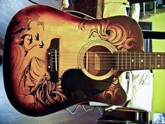 Guitar Sharpie Art, amazing
