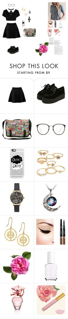 """""""the school is a wonderful time spending. I graduated from high school and miss school"""" by karina-fiestisova ❤ liked on Polyvore featuring Killstar, Linda Farrow, Casetify, Mudd, Olivia Burton, Tory Burch, Essie and BCBGMAXAZRIA"""