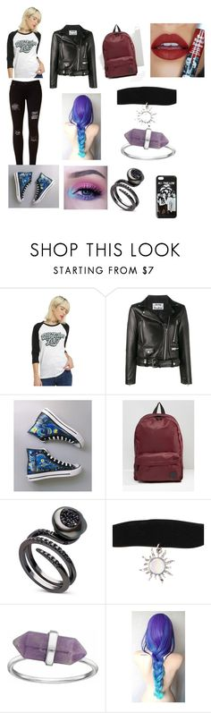 """All Time Low concert"" by saverockandroll2003 ❤ liked on Polyvore featuring Hot Topic, Acne Studios, Converse, Vans, Sugarpill and plus size clothing"