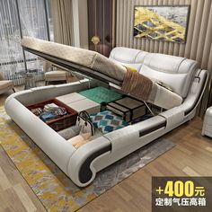 Iluo leather bed master bedroom modern minimalist 1 8 m double bed wedding bed 1 5 M leather bed massage small apartment Men's Bedroom Design, Simple Bedroom Design, Bedroom False Ceiling Design, Bedroom Furniture Design, Bed Furniture, Bedroom Modern, Double Bed Designs, Bedding Master Bedroom, Leather Bed