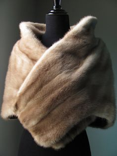 Ultimate Luxury Gift Or Wedding Bridal Accessories / Hollywood Brown Sable Mink Fur Stole / Holiday Christmas/ Vintage Shrug Wrap Cape Shawl...