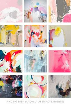 FINDING INSPIRATION: ABSTRACT PAINTINGS || Meredith C. Bullock