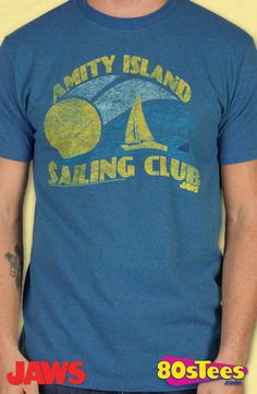 5c4df77a3e59f Amity Isl  Sailing Club Shirt  Jaws Mens T-shirt Jaws Shirt