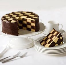 How Do You Make A Checkered Board Cake Images