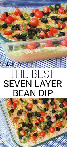 Fabulous Seven Layer Bean Dip The best Seven Layer Bean Dip recipe ever! I love a good Seven Layer Bean Dip, don't you? I haven't met many people who don't enjoy it. With Super Bowl Sunday on the horizon I thought it might be a good time to share a fab… Appetizer Dips, Appetizer Recipes, Seven Layer Bean Dip, Seven Layer Dip Recipe Easy, All You Need Is, Mexican Bean Dip, Bean Dip Recipes, Best Taco Dip Recipe, Layered Bean Dip