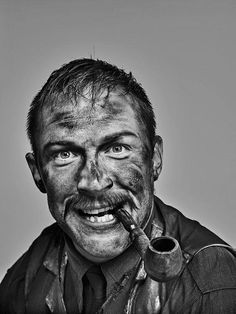 """tomhardyvariations: """" From the brilliant - """"That time when I persuaded Tom Hardy to dress up as Daniel Day Lewis as Daniel Plainview in 'There Will Be Blood'."""" Photograph by Chris Floyd. Tom Hardy Variations, Top Hollywood Movies, Daniel Day, Day Lewis, Celebrity Portraits, Role Models, Beautiful Men, Portrait Photography, Handsome"""