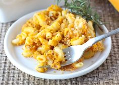 Butternut Squash Mac and Cheese. PCOS-friendly modifications: whole wheat pasta, whole wheat flour, and reduced fat cheese.