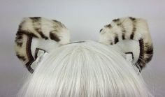 From Kitten Sightings on eBay! The Chateau's Official Sponsor! Tand and Brown Fur Tiger Cat Ears