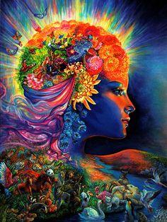 Josephine Wall - The Presence of Gaia - Birthday Greeting Card