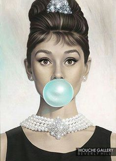 Blue bubble gum.