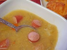 Traditional German red lentil soup http://www.quick-german-recipes.com/red-lentil-soup-recipe.html