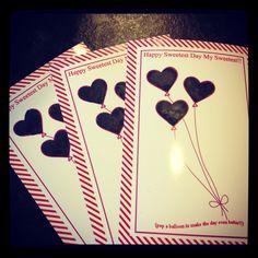 DIY scratch off cards