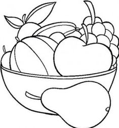 Coloring For Kidsteachers And Parentsfruit Coloringprintable Papers