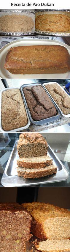 Aprenda a fazer uma receita excelente de Pão Dukan, perfeito para a dieta Dukan ou para quem deseja comer um pão mais saudável.
