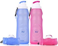 Collapsible Water Bottles for Travel, Hike & Work