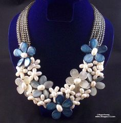 Blue Necklace Set | Boutique Statement Piece | Something Blue Bridal Jewelry | New & Boxed | One of a Kind | Fast & Free USA Shipping | $99.oo