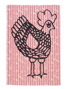 Cocotte Red Herringbone Tea Towel  #lacococotteparis