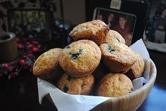 Blueberry Muffins (with pudding)