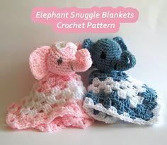 $2.99--Ravelry: Elephant Snuggle Blanket pattern by Cheryl Cooper