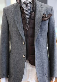 landerurquijo: A Flannel jacket and a vest: a perfect match for a cold day