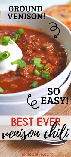 No Meat Chili Recipe, Chilli Recipes, Easy Meat Recipes, Crockpot Recipes, Game Recipes, Venison Chili Recipe Easy, Venison Chili Recipe Crockpot, Recipes, Asparagus
