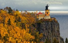 Split Rock Lighthouse on Lake Superior, Minnesota