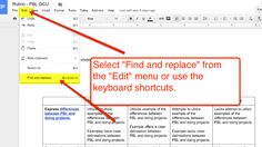 Quick Google Docs Tip - Find & Replace