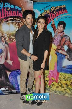 Varun Dhawan & Alia Bhatt at the Promotion of Hindi movie 'Humpty Sharma Ki Dulhania' at Film City in Mumbai