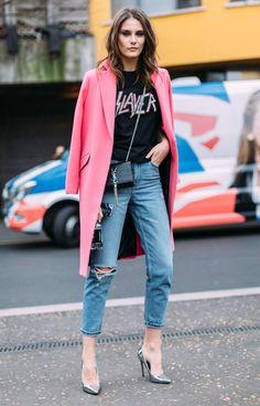 Le manteau rose bonbon