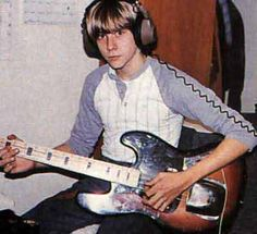 Kurt Cobain in his younger days.