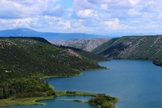 The view from above the national park in Split, Croatia.