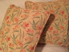 This is a set of two Vintage Pillows with removable zipper covers. They are in great condition, no smoke or pet odors and pillow inserts are