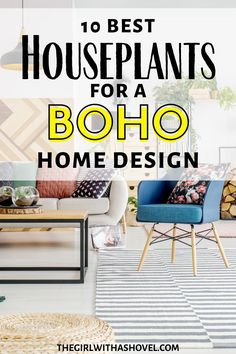 10 of the most desired house plants to turn your home into a Bohemian get-away!!! CREATE THE PERFECT BOHEMIAN STYLE WITH THESE BOHO-STYLE PLANTS! Plants for a BOHO Bedroom | BOHO Home Design | Bohemian Interior Design | Indoor Plants for Boho Bedroom | BOHO Bedroom |