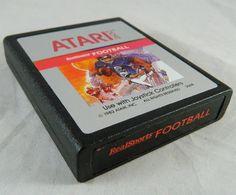 Vintage Atari 2600 RealSports FOOTBALL Video Game Cartridge 1982 Tested & Works