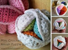 This Mini Crochet Amish Puzzle Ball works up in a jiffy. The FREE pattern includes lots of photos and hints.
