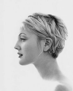 Drew Barrymore profile.  I loved how easy my hair was when I cut it like this.  Hmmmm...