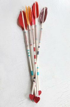 Homemade Cupid's arrows are one way to add a crafty touch to Valentine's Day.