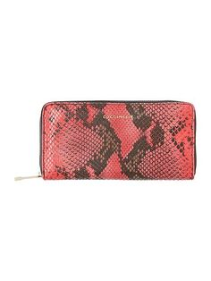 Pink snake large zip around purse- Coccinelle