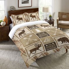 Country Cabin Duvet Cover and Shams – Laural Home