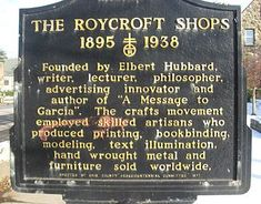 Roycroft - Wikipedia, the free encyclopedia East Aurora, Mottos To Live By, Roycroft, Selling Furniture, Art Deco Era, Arts And Crafts Movement, Bookbinding, Shop Signs, Craft Items
