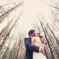 A relaxed forest wedding with lots of fun handmade details.