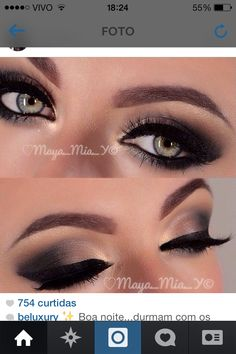 Make esfumada olhos verdes