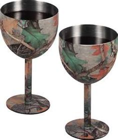 camo wine glasses